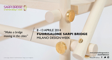 "Fuorisalone Sarpi Bridge - ""Make a bridge moving in the cities"" - Milano Design Week 2014"