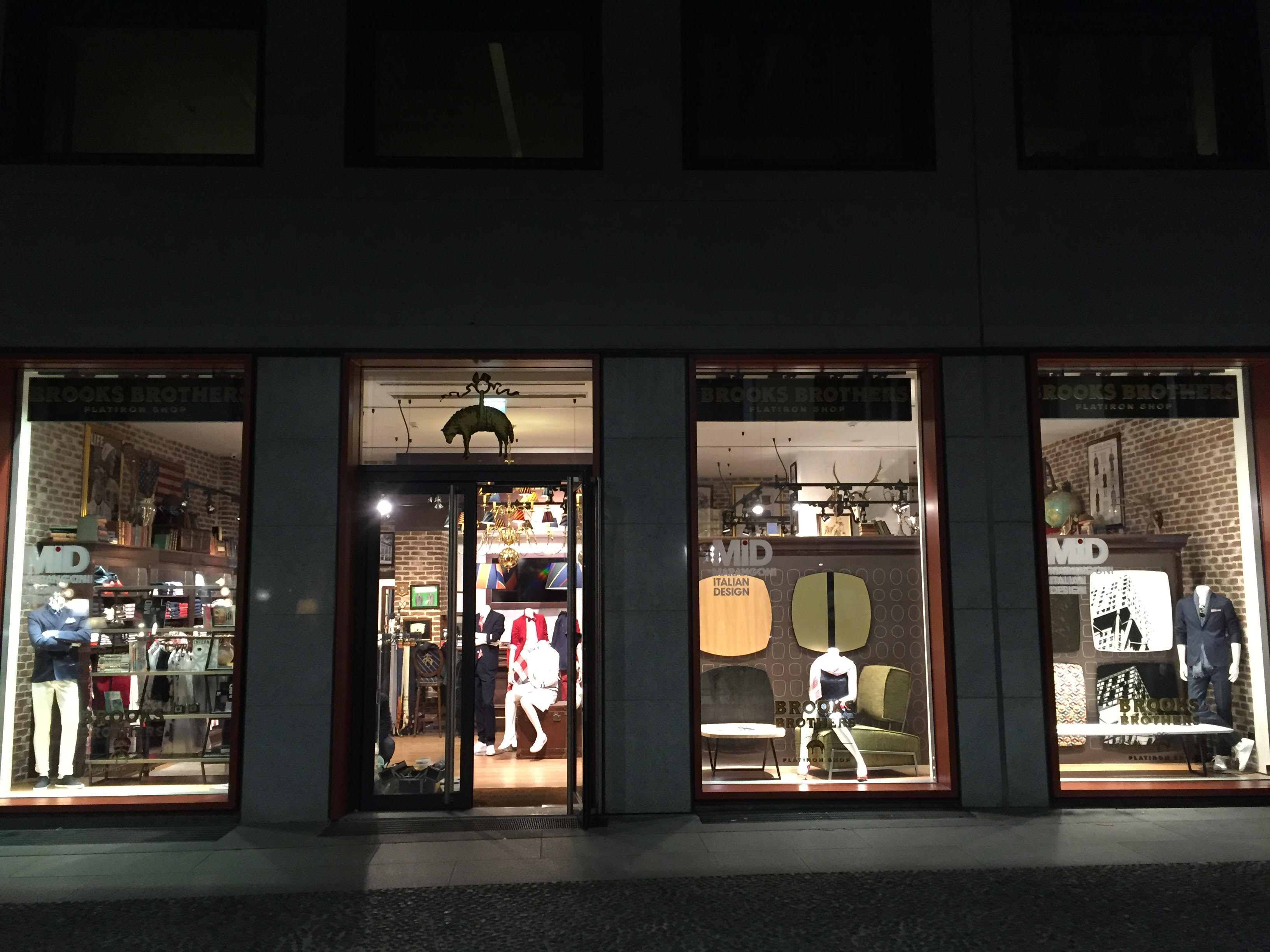 Marangoni italian design brooks brothers for Via marangoni milano