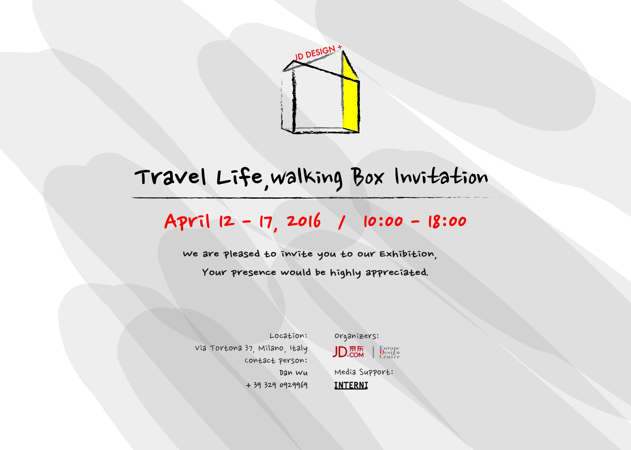 Europe Design Center presents TRAVEL LIFE - WALKING BOX