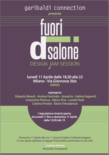 Fuori Salone Venerdi 15 Aprile : Design autoprodotto jam session fuorisalone