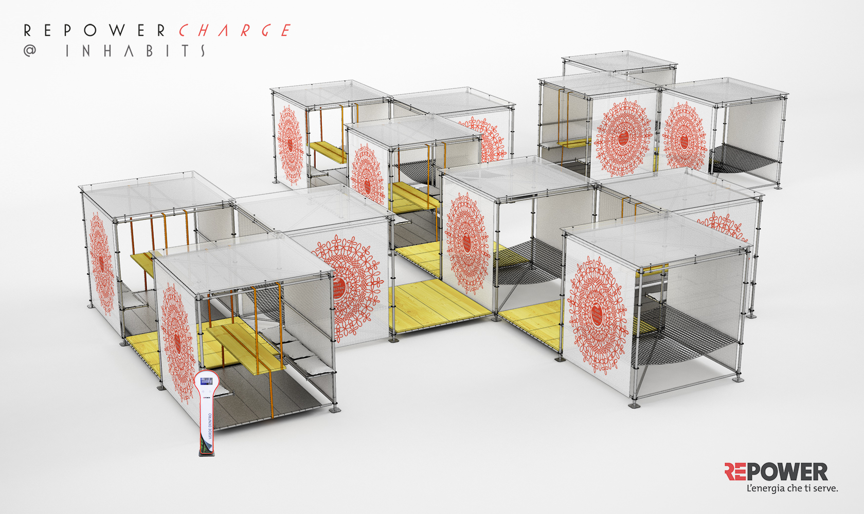 Repowercharge inhabits milano design village for Milano design village