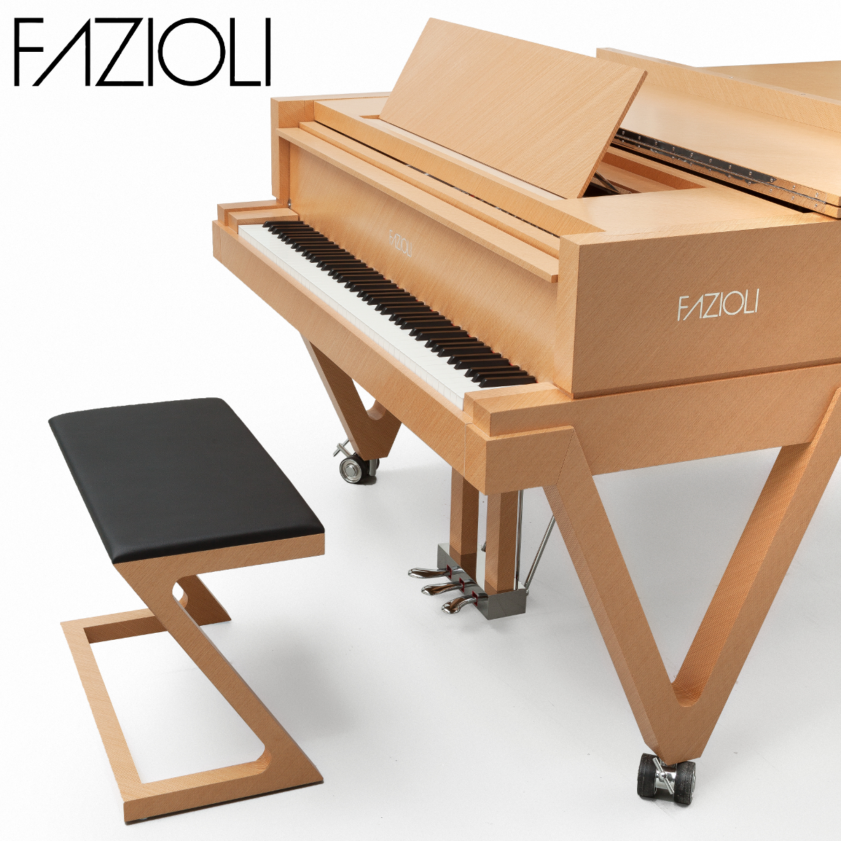 Fazioli ebony concert grand